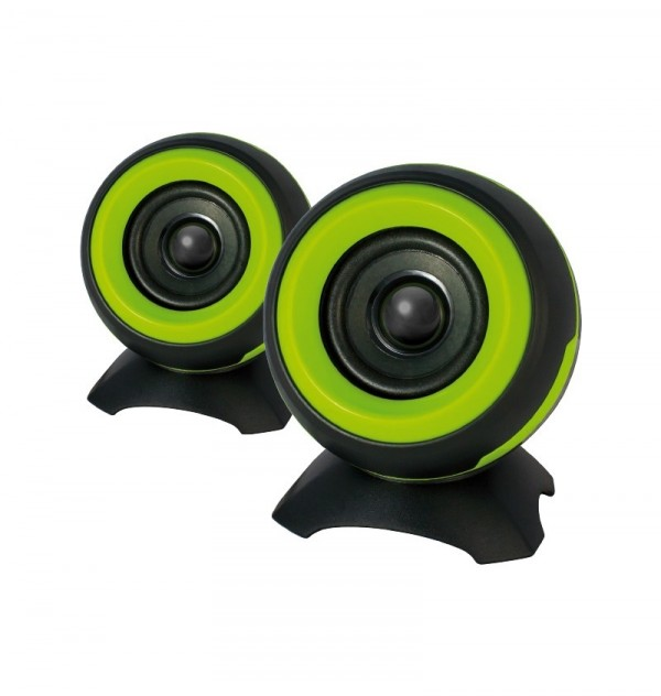 ADJ SP025 Sphere Speaker2.0 6W RMS USB Powered Green