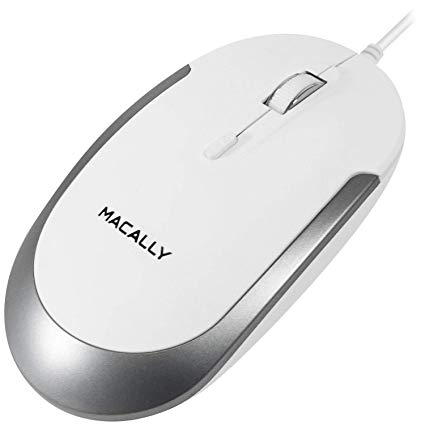 MACALLY Mouse DYNAMOUSE-B Noir White/Silver