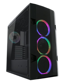 LC Power Boitier Gaming 998B Rambot RGB sans Alim.